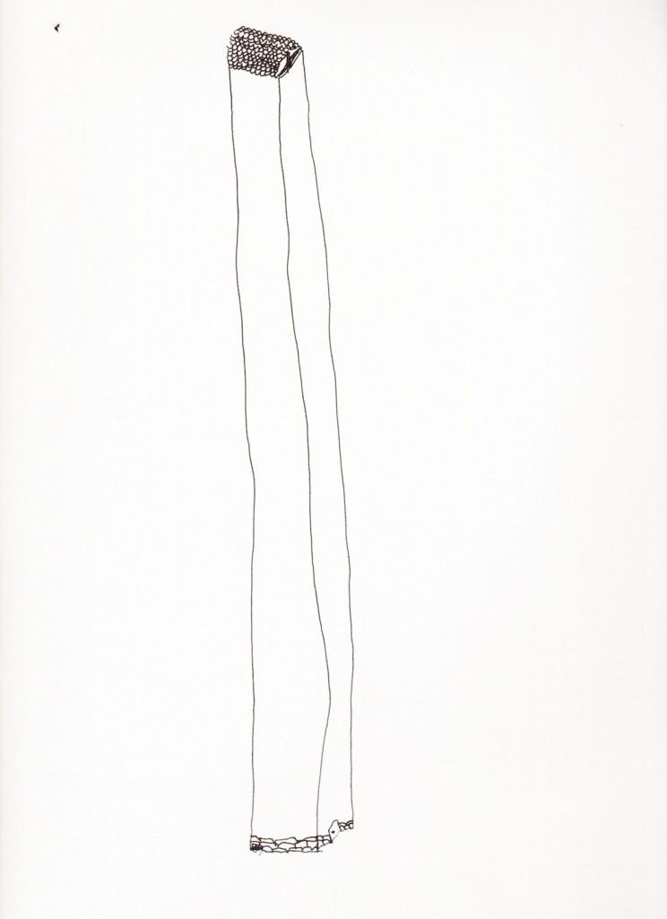 maison-phare, encre de chine, 25 x 12 cm, 2009.